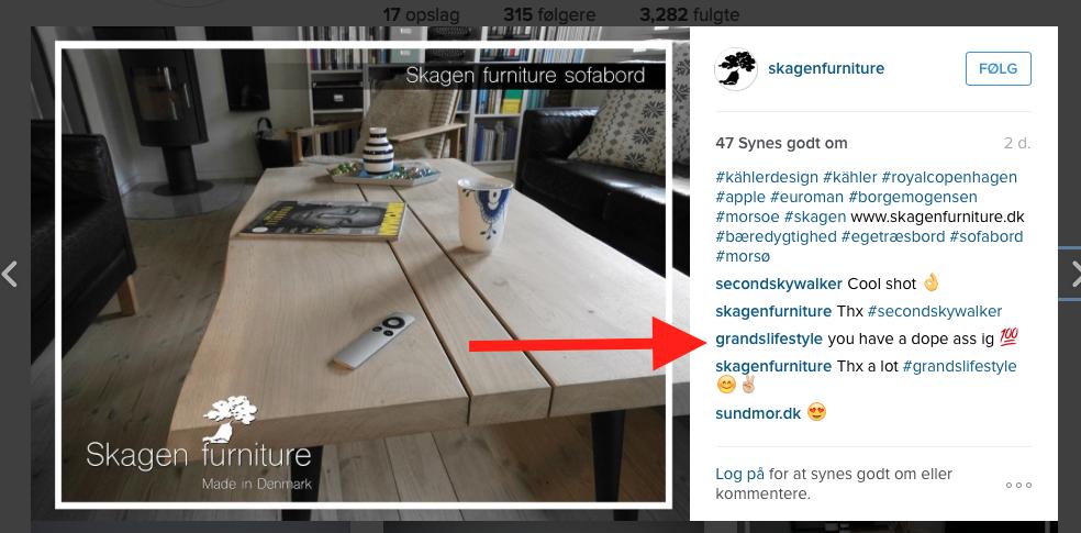 instagram skagen furniture